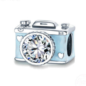 Blue Camera Charm