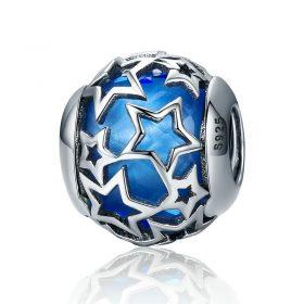 Shimmering Blue Star Charm