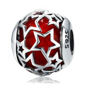 Shimmering Red Star Charm
