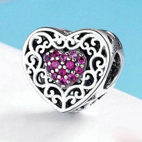 Vintage Purple Heart Charm