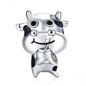 Baby Cow Enamel Charm