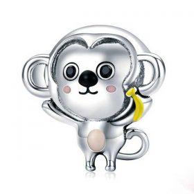 Baby Monkey Enamel Charm