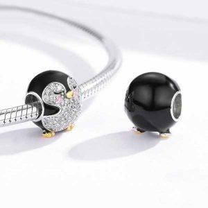 Baby Penguin CZ Enamel Charm