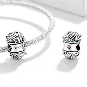 Ball of Yarn CZ Charm