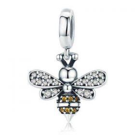 Crystal Bee Pendant Charm