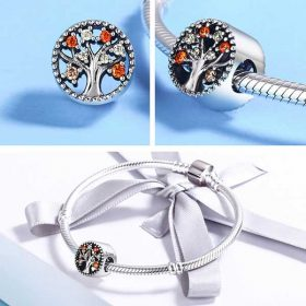 Fruitful Autumn CZ Charm