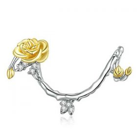 Golden Rose Vines Charm