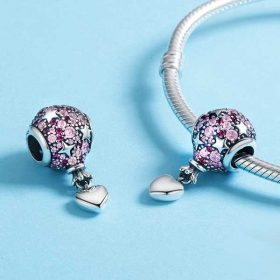Love Balloon CZ Charm