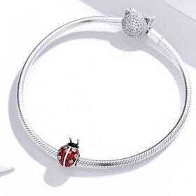Tartan Ladybug Enamel Charm