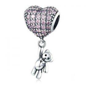 Teddy Heart Balloon Charm
