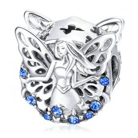 Blue Flower Fairy Charm