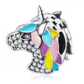Unicorn CZ Enamel Charm