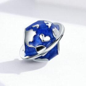 Blue Earth Enamel Charm