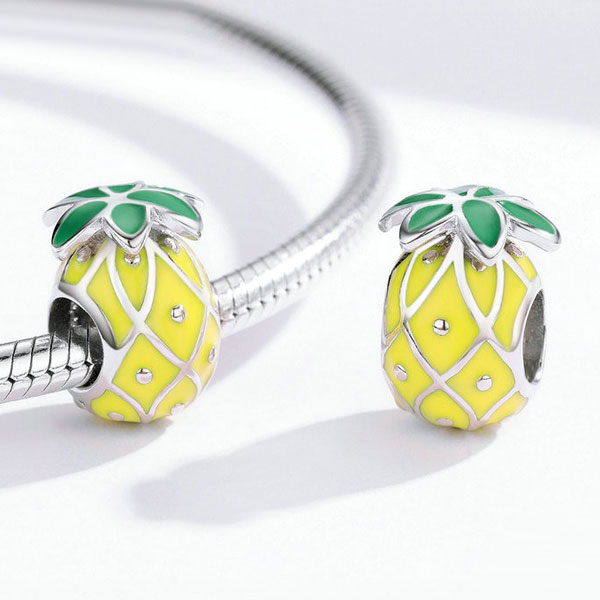 Pineapple Enamel Charm