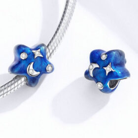Starry Night Enamel Charm