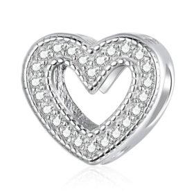 Cutout Heart CZ Charm