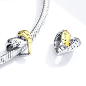 Love and Live Heart Charm