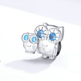 Owl Mom and Baby Charm