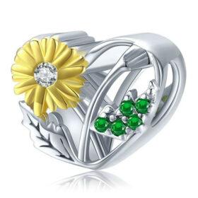 Daisy Heart Charm